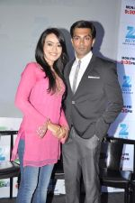 Karan Singh Grover, Surbhi Jyoti at the Press conference of ZEE TV_s serial Qubool Hain in Westin Hotel, Mumbai on 14th Feb 2013 (2).JPG