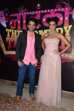 Neha Dhupia, Tusshar Kapoor at the promotions of Kai Po Che on the sets of Nautanki - The Comedy Theatre in Mumbai on 14th Feb 2013 (1).JPG