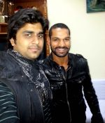 aman trikha & shikhar dhawan at Tihar jail in Delhi on 13th Feb 2013.jpg