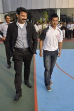 Bhaichang Bhutia at Nirmal lifestyle University Football League launch in Mulund, Mumbai on 15th Feb 2013 (12).JPG
