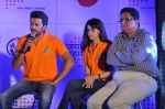 Ritesh Deshmukh, Genelia_s tram Veer Maratha get sponsored by Sahana Group of companies Jai Maharashtra new channel in J W Marriott, Mumbai on 15th Feb 2013 (11).JPG
