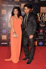 Vivian Dsena, Vahbiz Dorabjee at Star Guild Awards red carpet in Mumbai on 16th Feb 2013 (132).JPG