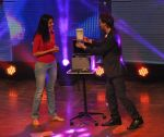Shriya Kishore with Lior - secret papers out of the secret box at Lior Suchard show in Mumbai on 18th Feb 2013.JPG
