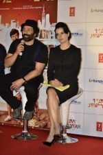 Sunny Deol and Kangana Ranaut at the theatrical of I Love NY (New Year) was launched on 25th Feb at Cinemax, Versova (99).JPG