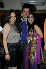 Preety Bhalla with Rajiv and Shibani Kashyap at Preety Bhalla_s birthday bash  .JPG