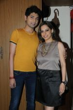 Vivek Mishra with Preety Bhalla at Preety Bhalla_s birthday bash .JPG
