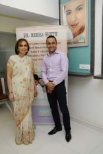 Dr Rekha Sheth with Rahul Bose at Dr. Rekha Sheth Celebrates the Prestigious MARIA DURAN Lectureship Award by the International Society of Dermatology in Mumbai on 13th March 2013.JPG