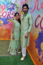 Siddharth Arora, Jayashree Venketaramanan at Colors celebrate Holi in Mumbai on 17th March 2013 (12).JPG