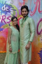 Siddharth Arora, Jayashree Venketaramanan at Colors celebrate Holi in Mumbai on 17th March 2013 (14).JPG