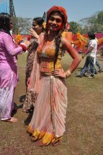 Sreejita De at Colors celebrate Holi in Mumbai on 17th March 2013 (116).JPG