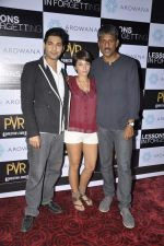 Raaghav Chanana, Maya Tideman, Adil Hussain at the Press conference of film Lessons in Forgetting in PVR, Mumbai on 20th March 2013 (16).JPG