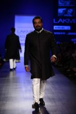 Anurag Kashyap walk the ramp for Manish Malhotra Show at Lakme Fashion Week 2013 Day 1 in Grand Hyatt, Mumbai on 22nd March 2013 (14).JPG