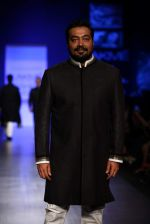 Anurag Kashyap walk the ramp for Manish Malhotra Show at Lakme Fashion Week 2013 Day 1 in Grand Hyatt, Mumbai on 22nd March 2013 (15).JPG
