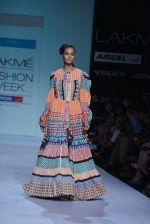 Model walk the ramp for Debarun Show at Lakme Fashion Week 2013 Day 1 in Grand Hyatt, Mumbai on 22nd March 2013 (66).JPG