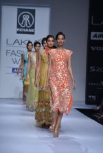 Model walk the ramp for Rehane Show at Lakme Fashion Week 2013 Day 1 in Grand Hyatt, Mumbai on 22nd March 2013 (14).JPG