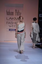 Model walk the ramp for Suhani Pittie Show at Lakme Fashion Week 2013 Day 1 in Grand Hyatt, Mumbai on 22nd March 2013 (9).JPG