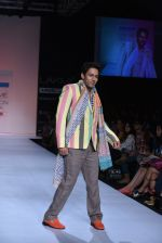 Sahil Anand walk the ramp for Debarun Show at Lakme Fashion Week 2013 Day 1 in Grand Hyatt, Mumbai on 22nd March 2013 (81).JPG