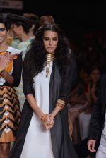 Neha Dhupia walk the ramp for Save Tigers Aircel Show at Lakme Fashion Week 2013 Day 5 in Grand Hyatt, Mumbai on 26th March 2013 (335).JPG