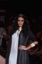 Neha Dhupia walk the ramp for Save Tigers Aircel Show at Lakme Fashion Week 2013 Day 5 in Grand Hyatt, Mumbai on 26th March 2013 (346).JPG