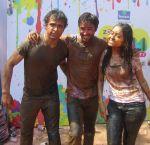 Karan Sharma with Rithvik Dhanjani and Asha Negi enjoying Holi.jpg