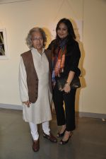 Anil Dharkar and Farah Sidiqui at the Maimouna Guerresi photo exhibition in association with Tod_s in Mumbai.JPG