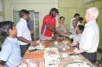 Chris Gayle spend time with NGO kids in Worli, Mumbai on 26th April 2013 (29).JPG