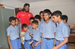 Chris Gayle spend time with NGO kids in Worli, Mumbai on 26th April 2013 (36).JPG