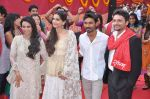 Sonam Kapoor, Dhanush, Swara Bhaskar at the launch of Raanjhanaa in Filmcity, Mumbai on 10th May 2013 (46).JPG