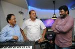 B.N.Ojha (Director) with Dhananjay Kumar Yadav with Vijay Pandey  at the song recording for the Film Janta vs Janardan - Aam Aadmi (3).JPG