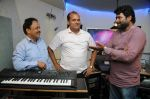B.N.Ojha (Director) with Dhananjay Kumar Yadav with Vijay Pandey  at the song recording for the Film Janta vs Janardan - Aam Aadmi.JPG