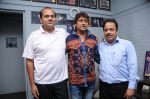 Dhananjay Kumar Yadav (Producer) with Aadesh Srivastav and B.N.Ojha (Director) at the song recording for the film Janta vs Janardan - Aam Aadmi .JPG
