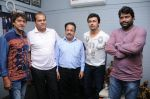 Adesh Srivastav,  Dhananjay Kumar Yadav (Prodiucer), B.N.Ojha (Director) Sonu Nigam and Vijay Pandey at the recording of a song for Dhananjay Films Pvt Ltd_s film - Janta Vs Janardan.JPG