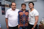 Dhananjay Kumar Yadav (Producer), Adesh Srivastav (Music Director)  and Sonu Nigam at the recording of a song for Dhananjay Films Pvt Ltd_s film - Janta Vs Janardan    DSC_7828.JPG
