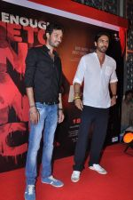 Aakash Dahiya, Arjun Rampal at D-Day film promo launch in Cinemax, Mumbai on 23rd May 2013 (81).JPG