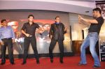 Sunil Shetty, Mimoh Chakraborty, Mithun Chakraborty, Johnny Lever at Enemmy launch in Mumbai on 24th May 2013 (68).JPG