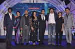 Vishal Dadlani, Shekhar Ravjiani, Shreya Ghoshal, Karan Wahi, Mandira Bedi at Junior Indian idol press meet in Grand Hyatt, Mumbai on 28th May 2013 (52).JPG