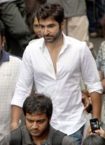 jeet at Rituparno Ghosh funeral in Kolkatta on 30th May 2013.jpg
