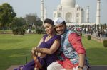 Shreyas Talpade and Manjari Phadnis in the still from movie Wah Taj  (2).JPG