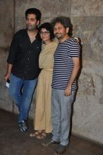 Karan Johar, Kiran Rao, Anand Gandhi at Special screening of Kiran Rao_s Ship of Theseus in Lightbox, Mumbai on 18th June 2013 (12).JPG