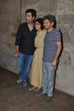 Karan Johar, Kiran Rao, Anand Gandhi at Special screening of Kiran Rao_s Ship of Theseus in Lightbox, Mumbai on 18th June 2013 (14).JPG