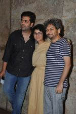 Karan Johar, Kiran Rao, Anand Gandhi at Special screening of Kiran Rao_s Ship of Theseus in Lightbox, Mumbai on 18th June 2013 (18).JPG