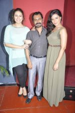 Richa Chadda, Huma Qureshi, Nawazuddin Siddiqui at the unveiling of the film Shorts in Cinemax, Mumbai on 24th June 2013 (63).JPG