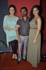 Richa Chadda, Huma Qureshi, Nawazuddin Siddiqui at the unveiling of the film Shorts in Cinemax, Mumbai on 24th June 2013 (66).JPG