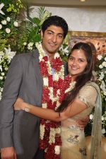 Ahana Deol, Vaibhav Vora at Ahana Deol gets engaged to Delhi based businessman Vaibhav Vora in their residence, Juhu Scheme, Mumbai on 25th June 2013 (8).jpg