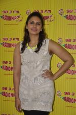 Huma Qureshi at D-day promotions at Radio Mirchi in Lower Parel, Mumbai on 29th June 2013 (11).JPG