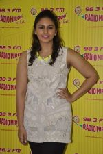 Huma Qureshi at D-day promotions at Radio Mirchi in Lower Parel, Mumbai on 29th June 2013 (15).JPG