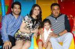 Amit Tandon & Dr. Ruby Tandon with Daughter Jiyana Tandon   with Sanjay Nirupam at Dr. Ruby Tandon_s daughter Jiyana Tandon_s 3rd birthday in Mumbai on 30th June 2013.JPG