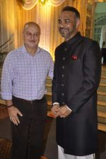 Anupam Kher at Ramesh Deo_s 50th wedding anniversary in Isckon, Mumbai on 1st July 2013 (67).JPG