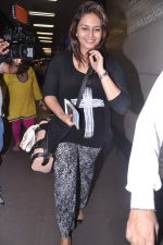 Huma Qureshi leave for IIFA Awards 2013 in Mumbai on 3rd July 2013 (10).JPG