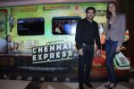Mexican Actress Rebeca Mayorga With Parvez Lakdawala at the Music Launch of Chennai Express in Mumbai on 3rd July 2013,1 (2).jpg